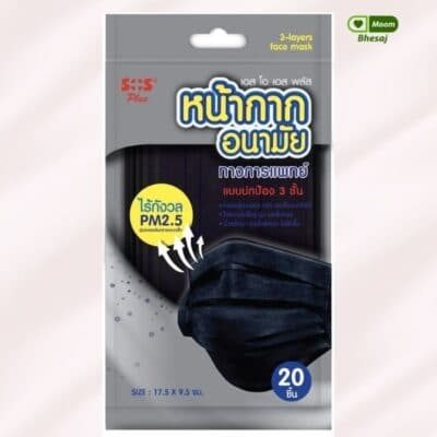 แมสสีดำกันฝุ่นPM2.5
